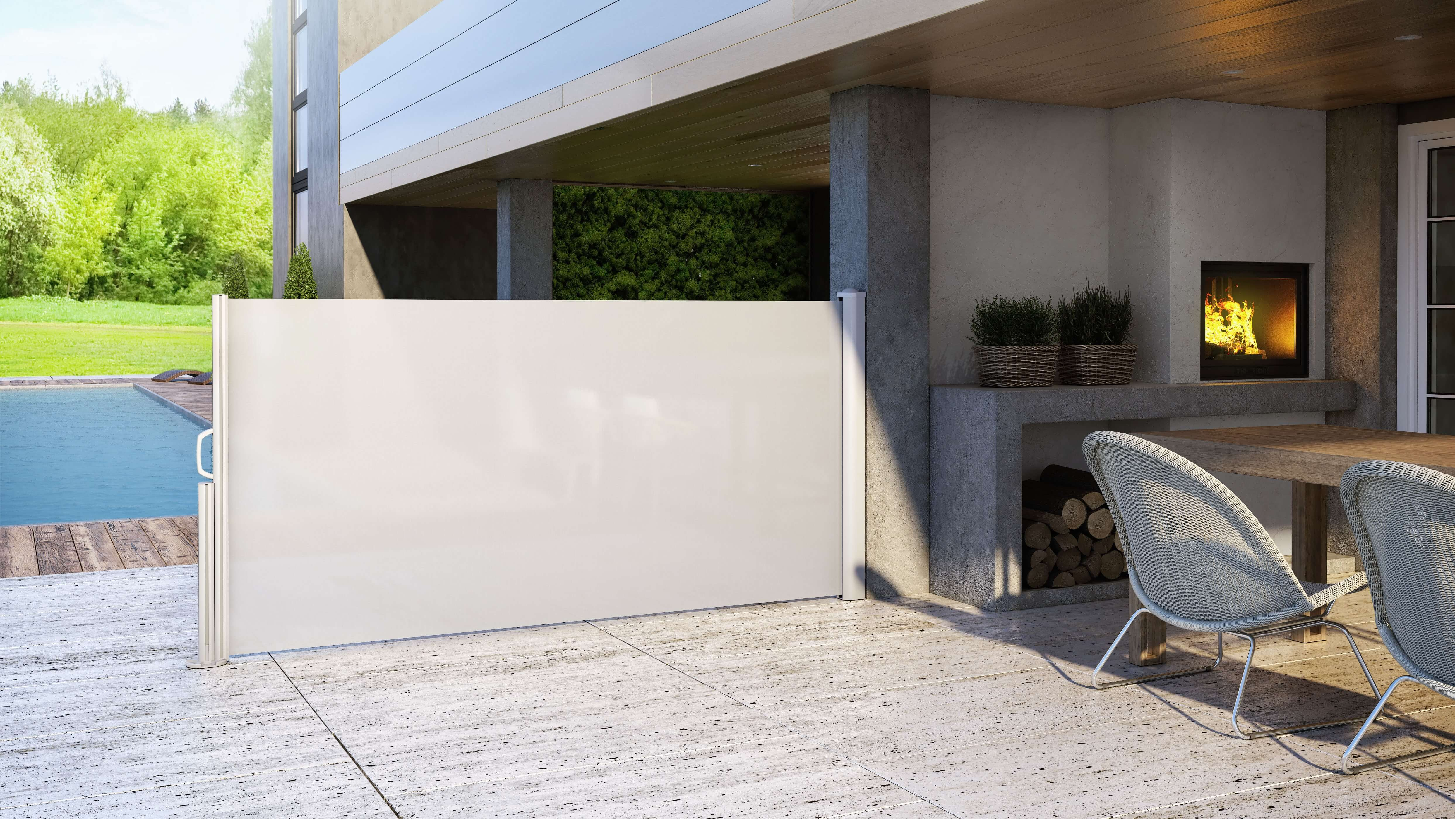 Privacy will no longer be a problem with ELY: the new vertical awning